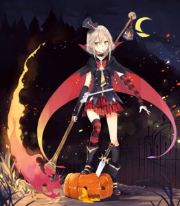 Rating: Safe Score: 55 Tags: halloween hao_(patinnko) pointy_ears thighhighs weapon User: Mr_GT