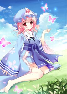 Rating: Safe Score: 25 Tags: mamita saigyouji_yuyuko thighhighs touhou User: fairyren