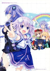Rating: Questionable Score: 15 Tags: blanc choujigen_game_neptune kami_jigen_game_neptune_v neptune noire purple_heart pururut tsunako vert User: Radioactive