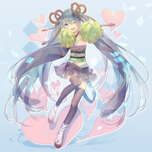 Rating: Safe Score: 21 Tags: cheerleader hatsune_miku nuage thighhighs vocaloid User: Nekotsúh