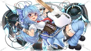 Rating: Safe Score: 20 Tags: bike_shorts cirno guitar kanna211 megane touhou User: Mr_GT