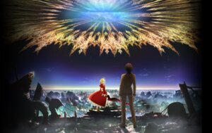 Rating: Safe Score: 20 Tags: armor dress fate/extra fate/extra_last_encore fate/stay_night heels kishinami_hakuno saber_extra see_through sword User: Anonymous