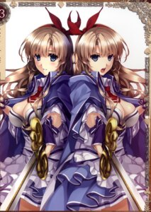 Rating: Questionable Score: 56 Tags: alicia_(queen's_blade) cleavage misaki_kurehito queen's_blade queen's_blade_grimoire sword User: fireattack