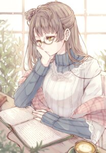 Rating: Safe Score: 41 Tags: 39_kura love_live! megane minami_kotori sweater User: Mr_GT