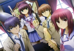 Rating: Safe Score: 18 Tags: angel_beats! gun iwasawa nakamura_shingo noda otonashi yurippe User: Jigsy