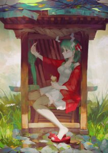 Rating: Safe Score: 25 Tags: dress jq kagiyama_hina megane open_shirt thighhighs touhou User: blooregardo