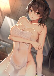 Rating: Questionable Score: 84 Tags: atelier_yuu breast_hold kaga_(kancolle) kantai_collection naked towel wet User: Mr_GT