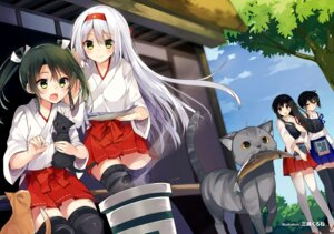 Rating: Safe Score: 55 Tags: akagi_(kancolle) kaga_(kancolle) kantai_collection mishima_kurone neko shoukaku_(kancolle) thighhighs zuikaku_(kancolle) User: Mr_GT