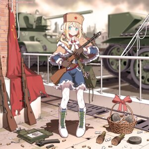 Rating: Safe Score: 32 Tags: girls_frontline gun pantyhose ppsh-41_(girls_frontline) sjd weapon User: sym455