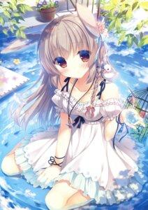 Rating: Safe Score: 143 Tags: animal_ears bunny_ears dress summer_dress wet yukie User: Twinsenzw