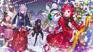 Rating: Safe Score: 10 Tags: christmas cleavage dress dungeon_fighter milcona pointy_ears tagme thighhighs User: BattlequeenYume
