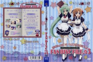 Rating: Safe Score: 15 Tags: disc_cover higurashi_no_naku_koro_ni maid ryuuguu_rena sakai_kyuuta screening sonozaki_mion stockings thighhighs User: charly_rozen