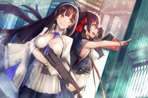 Rating: Safe Score: 27 Tags: cleavage girls_frontline gun mappaninatta pantyhose qbz-95 qbz-97 see_through User: Mr_GT