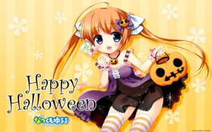 Rating: Safe Score: 31 Tags: dress halloween natsukumo_yururu pantsu sasai_saji see_through string_panties sumikko-soft thighhighs touma_himeka wallpaper User: milumon