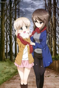 Rating: Safe Score: 34 Tags: aki_(girls_und_panzer) girls_und_panzer mika_(girls_und_panzer) pantyhose sweater wang_guo_nian yuri User: drop