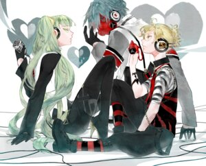 Rating: Safe Score: 12 Tags: hatsune_miku kagamine_len kaito toma_'3' vocaloid User: Metalic