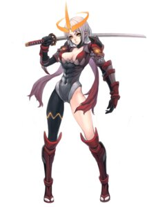 Rating: Safe Score: 32 Tags: armor cleavage pointy_ears sword zengxianxin User: Radioactive