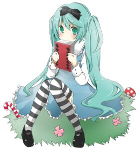 Rating: Safe Score: 27 Tags: airi_toro alice_in_wonderland cosplay dress hatsune_miku vocaloid User: Mogunzo