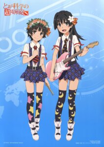 Rating: Safe Score: 39 Tags: guitar saten_ruiko tanaka_yuuichi thighhighs to_aru_kagaku_no_railgun to_aru_majutsu_no_index uiharu_kazari User: PPV10