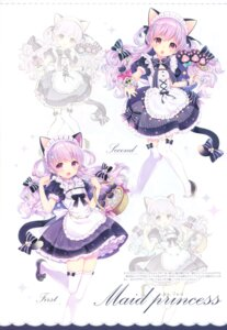 Rating: Safe Score: 61 Tags: animal_ears bleed_through konfe_shinsuki maid nekomimi tail thighhighs uchi_no_himesama_ga_ichiban_kawaii w.label wasabi_(artist) User: yong