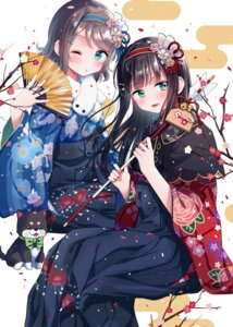 Rating: Safe Score: 28 Tags: hina_(hinalovesugita) kimono kurosawa_dia love_live!_sunshine!! watanabe_you User: Mr_GT