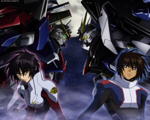 Rating: Safe Score: 13 Tags: bodysuit destiny_gundam gundam gundam_seed gundam_seed_destiny hirai_hisashi kira_yamato male mecha shinn_asuka strike_freedom_gundam wallpaper User: Chaosmage