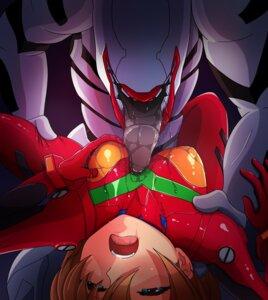 Rating: Questionable Score: 11 Tags: bodysuit breast_hold hirume monster neon_genesis_evangelion souryuu_asuka_langley wet User: Watarimono