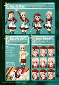 Rating: Safe Score: 9 Tags: 11eyes character_design expression lass narumi_yuu natsuki_kaori seifuku thighhighs User: syaoran-kun