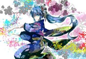 Rating: Safe Score: 31 Tags: hatsune_miku kimono mariwai vocaloid User: hobbito