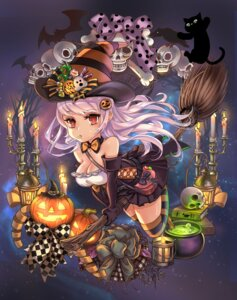 Rating: Safe Score: 6 Tags: bonury cleavage halloween thighhighs witch User: Mr_GT