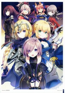 Rating: Safe Score: 35 Tags: animal_ears armor bodysuit dress fate/grand_order florence_nightingale_(fate/grand_order) garter h2so4 japanese_clothes jeanne_d'arc jeanne_d'arc_(fate) mash_kyrielight miyamoto_musashi_(fate/grand_order) saber scathach_(fate/grand_order) sword tamamo_no_mae uniform User: kiyoe