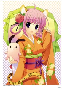 Rating: Safe Score: 38 Tags: animal_ears kimono mitha nekomimi tail User: Ravenblitz