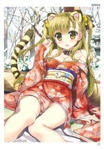 Rating: Questionable Score: 50 Tags: animal_ears cleavage fujima_takuya kimono open_shirt tail toranoana User: abcdefh