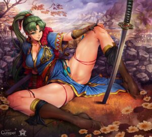 Rating: Questionable Score: 20 Tags: armor cleavage fire_emblem heels japanese_clothes lyndis_(fire_emblem) sword tagme User: BattlequeenYume