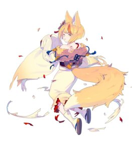 Rating: Questionable Score: 6 Tags: animal_ears enkyo_yuuichirou fire_emblem fire_emblem_heroes fire_emblem_if kimono kitsune nintendo selkie tail torn_clothes User: fly24
