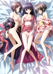 Rating: Questionable Score: 140 Tags: amamiya_yuuko breast_hold breasts cleavage ef_~a_fairytale_of_the_two~ hayama_mizuki_(angel's_sunday) hirono_nagi nanao_naru no_bra nopan yukata User: blooregardo