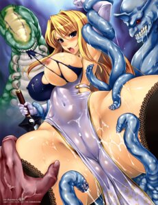 Rating: Explicit Score: 65 Tags: bondage breasts cameltoe censored chinadress cream cum erect_nipples monster nipples no_bra nopan rindou_aya sword tentacles thighhighs torn_clothes User: ForteenF