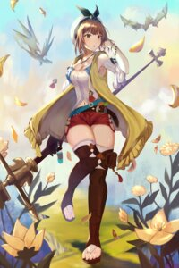 Rating: Safe Score: 20 Tags: atelier atelier_ryza cleavage melk reisalin_stout thighhighs weapon User: mash