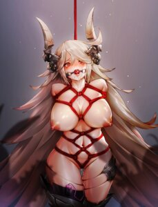 Rating: Explicit Score: 52 Tags: bondage faucre_the_evil_overlord horns last_origin naked nipples pussy pussy_juice radjeong thighhighs vibrator User: Mr_GT
