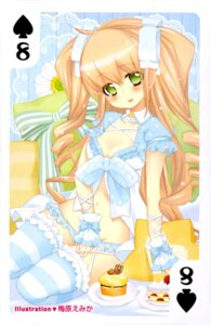 Rating: Questionable Score: 17 Tags: card cleavage dress pantsu stockings thighhighs umehara_emika User: drop