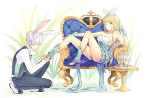 Rating: Questionable Score: 26 Tags: alice alice_in_wonderland animal_ears nagu pantsu white_rabbit User: dyj