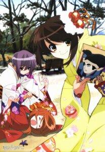 Rating: Safe Score: 11 Tags: aratani_tomoe asahina_mikuru kimono nagato_yuki suzumiya_haruhi suzumiya_haruhi_no_yuuutsu User: Anonymous