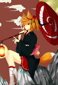 Rating: Safe Score: 44 Tags: animal_ears kagamine_rin liuli tail vocaloid yukata User: charunetra