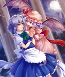 Rating: Safe Score: 14 Tags: izayoi_sakuya karo_karo remilia_scarlet touhou wings User: Mr_GT