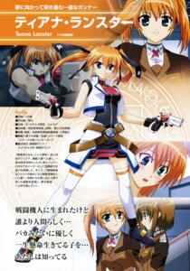 Rating: Safe Score: 7 Tags: mahou_shoujo_lyrical_nanoha mahou_shoujo_lyrical_nanoha_strikers profile_page teana_lanster thighhighs yagami_hayate User: noirblack