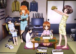 Rating: Safe Score: 28 Tags: akiyama_yukari girls_und_panzer isuzu_hana nishizumi_miho pajama reizei_mako takebe_saori weapon User: drop