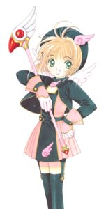 Rating: Safe Score: 4 Tags: card_captor_sakura clamp dress kinomoto_sakura stockings thighhighs weapon wings User: Omgix