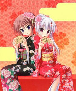 Rating: Safe Score: 71 Tags: hatsuyuki_sakura hontani_kanae kimono kozakai_aya saga_planets tamaki_sakura toranosuke User: frankmelody