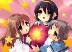 Rating: Safe Score: 17 Tags: asahina_mikuru ito_noizi nagato_yuki seifuku suzumiya_haruhi suzumiya_haruhi_no_yuuutsu User: Radioactive