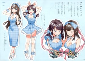 Rating: Safe Score: 40 Tags: ancotaku cleavage dress heels see_through sentiment_color skirt_lift User: kiyoe